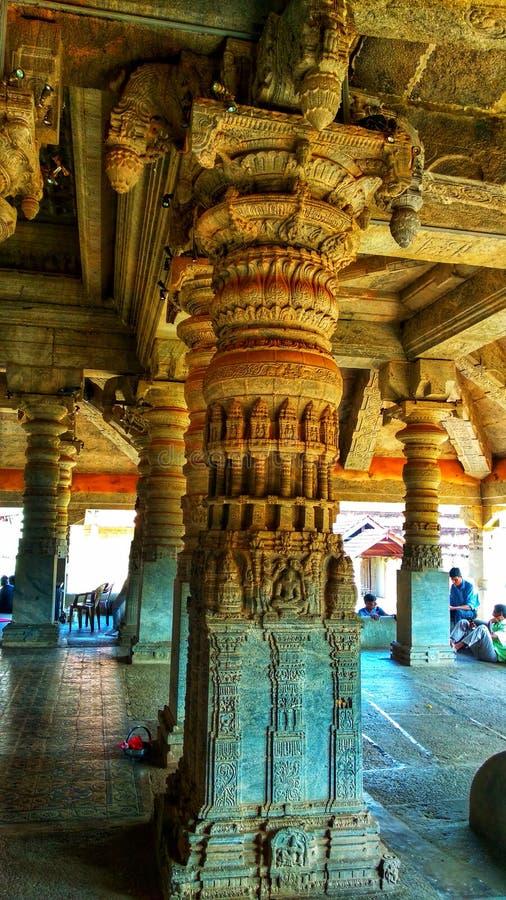 Mille temples de piliers, Moodbidri, Karnataka image libre de droits