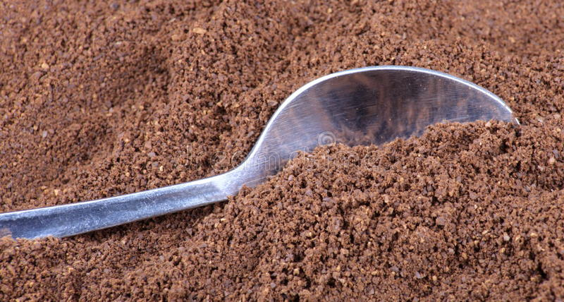 Download Milled Coffee  And Teaspoon Stock Photo - Image: 15796666