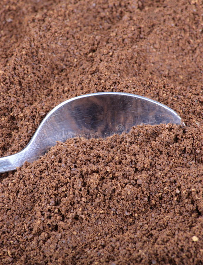 Download Milled Coffee  And Teaspoon Stock Photo - Image: 16096054