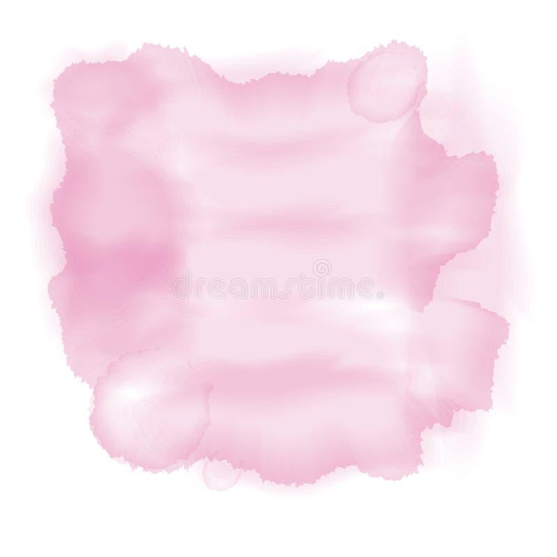Millefeuille rose d'aquarelle illustration libre de droits