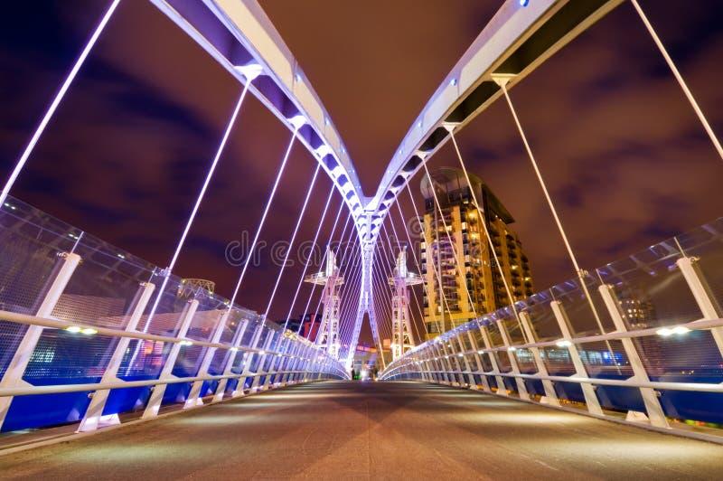 Download Millenium Bridge Manchester Stock Image - Image of millennium, west: 25647489