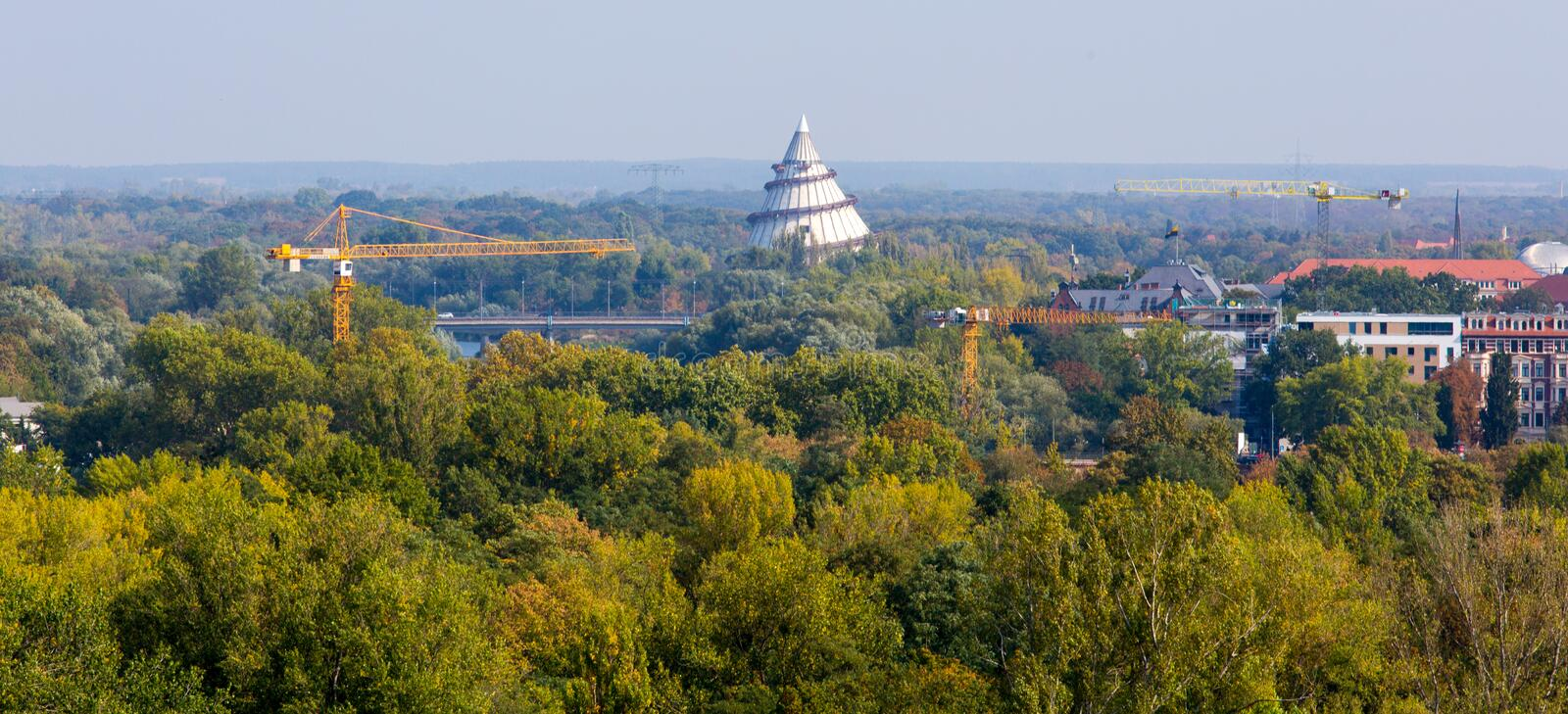 Millenium tower in Magdeburg royalty free stock image