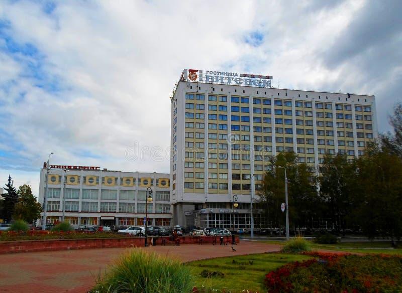 Milleniumfyrkant av Vitebsk, Vitryssland fotografering för bildbyråer