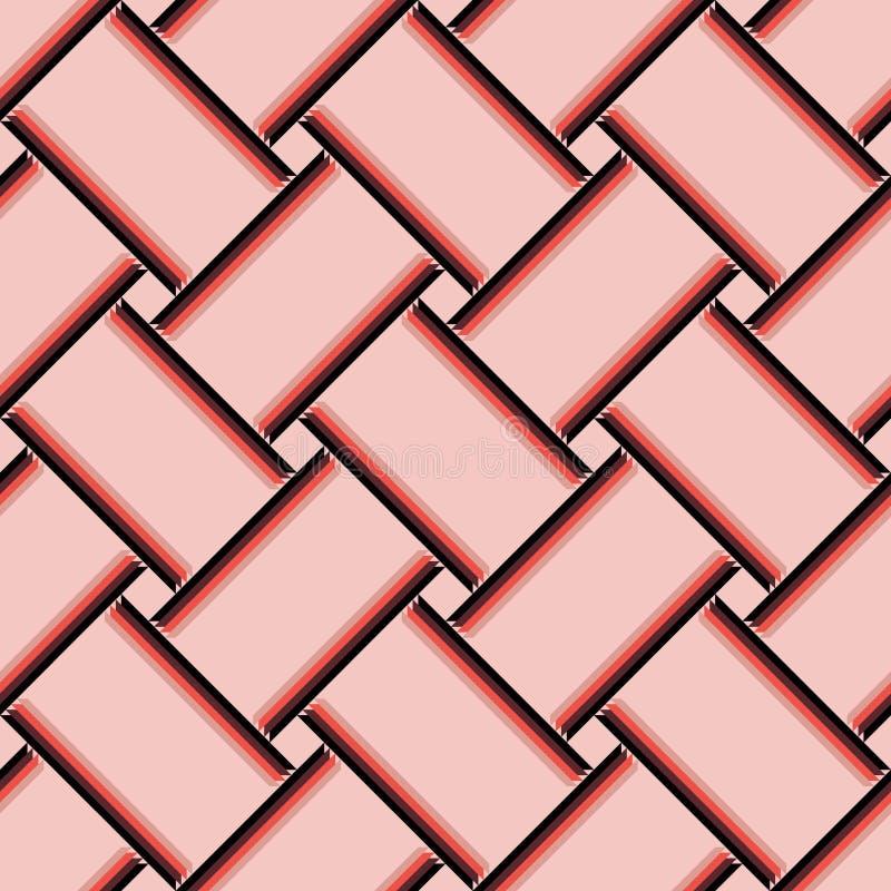 Millennial różowy abstrakta wzoru płytki powierzchni tła wzór royalty ilustracja