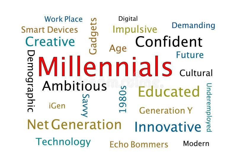 Millennials vector illustratie