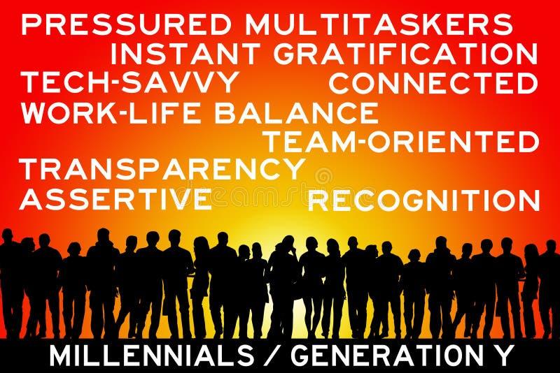 Millennials stock illustrationer