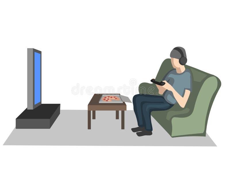 Millennials, mens speelt spelen royalty-vrije illustratie