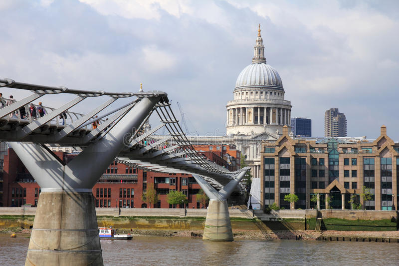 Download Millennium bridge London editorial stock photo. Image of international - 27011458
