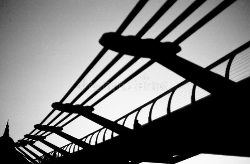 Millennium Bridge Silhouetted royalty free stock image