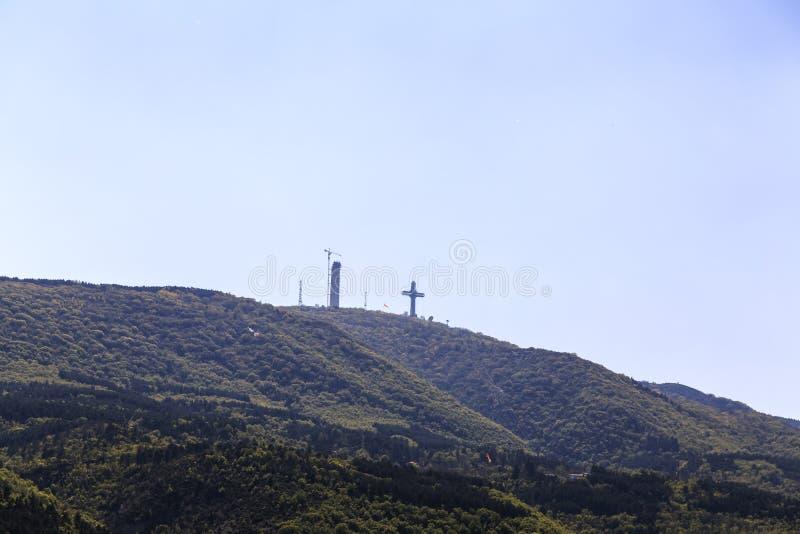 Millennium Cross, Skopje royalty free stock images