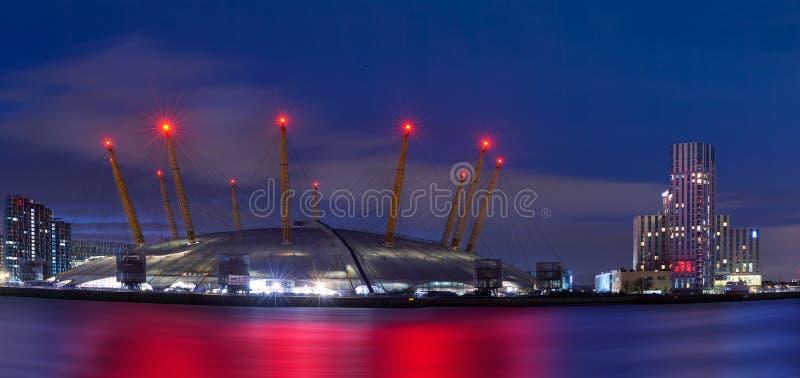 Millennium Dome, även kallad O2 Arena, den 3 december 2019 i London, Förenade kungariket Dome, royaltyfri foto