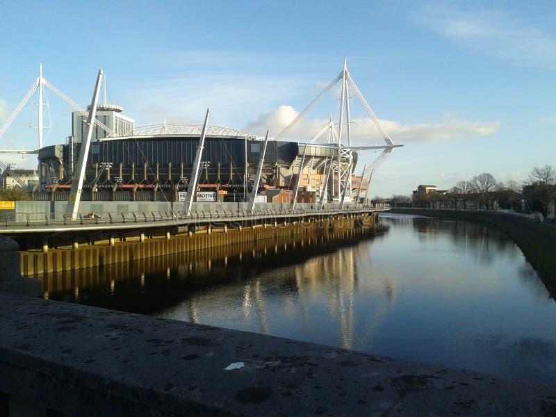 Millennium Stadium di Cardiff fotografie stock