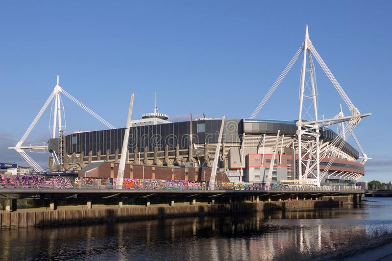 Millennium Stadium w Cardiif, Krajowy stadium Walia obrazy stock