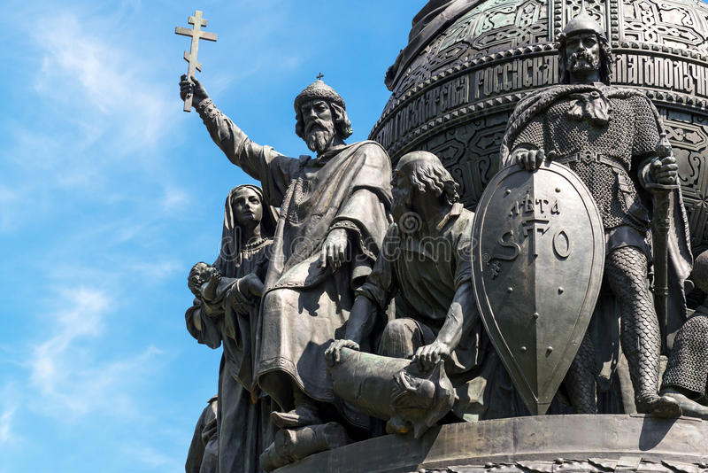 Millennium van Rusland in Novgorod Groot stock afbeeldingen
