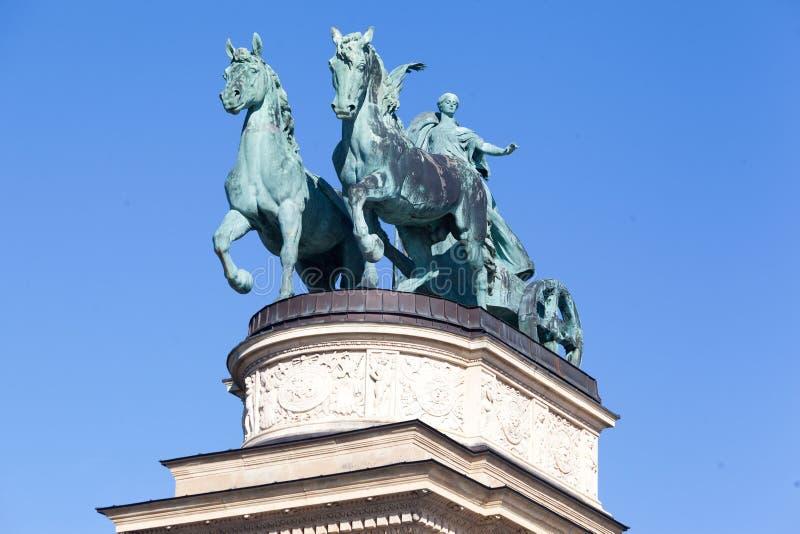 Millenniummonument Boedapest Hongarije royalty-vrije stock foto's