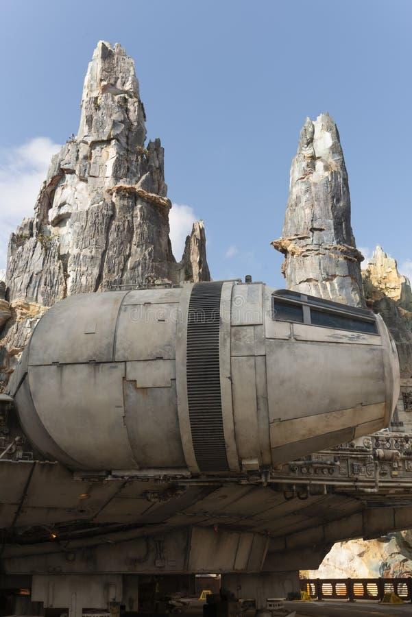 Millenniumvalk, Star Wars, de Rand van de Melkweg, Disney-wereld royalty-vrije stock foto's