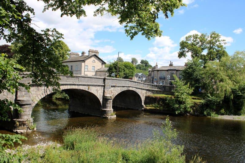 Miller bridge over River Kent in Kendal, Cumbria royalty free stock photos