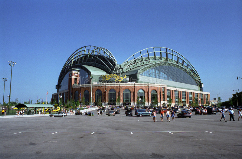 Miller-Park - Milwaukee stockfoto