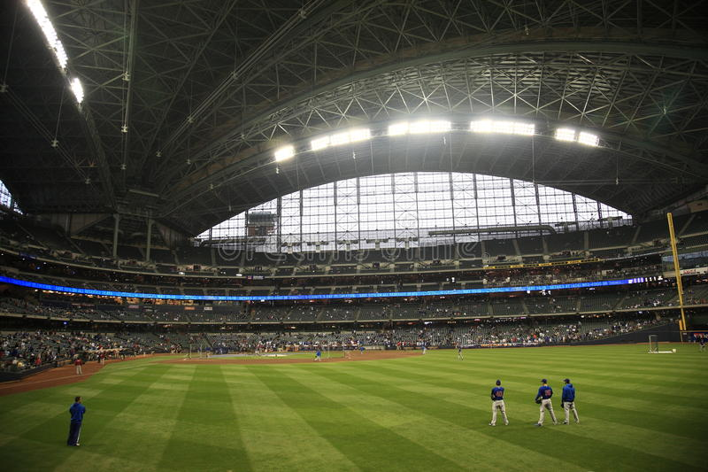 Miller Park - Milwaukee Brewers royalty free stock photo