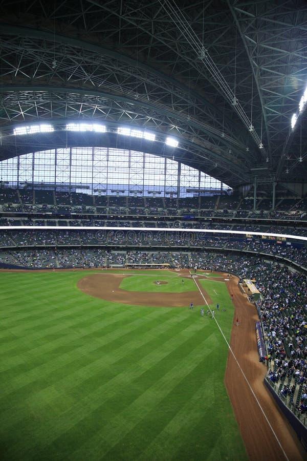 Miller-Park - Milwaukee Brewers stockbilder