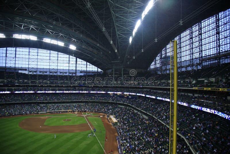 Miller-Park - Milwaukee Brewers stockbild