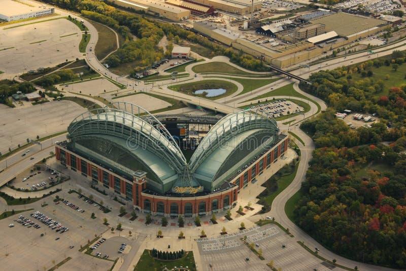 Miller-Park, Milwaukee Wisconsin lizenzfreie stockbilder