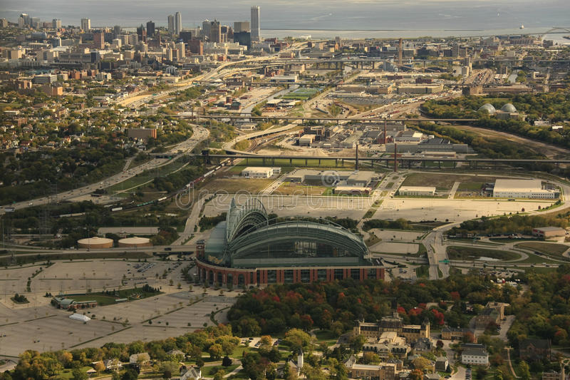 Miller-Park, Milwaukee Wisconsin stockfoto