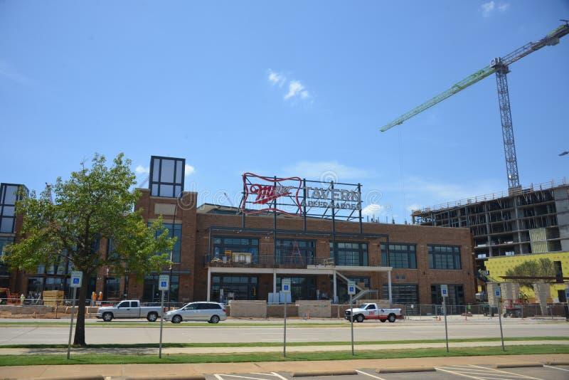 Miller Tavern au stade de la vie de globe, Arlington, le Texas images stock