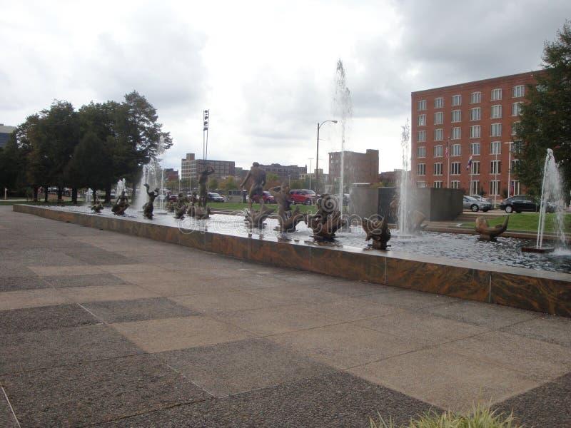 Milles喷泉雕象 免版税库存照片
