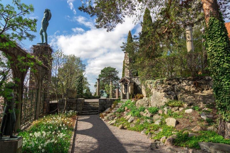 Millesgardenpark royalty-vrije stock foto's