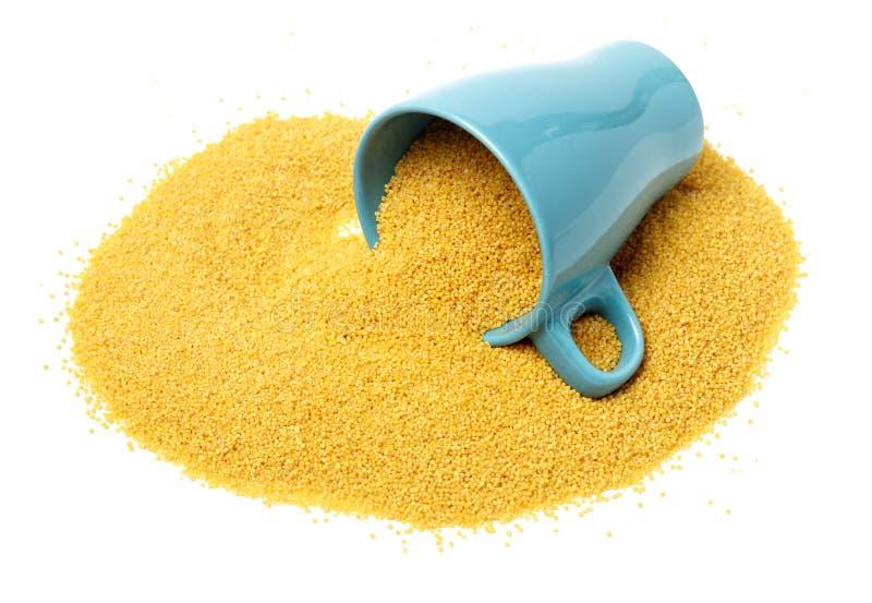 Millet grains stock images