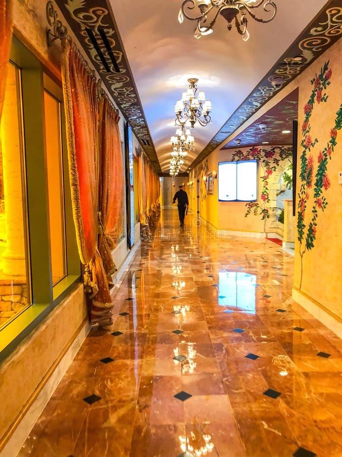 Milliard de promenade de couloir du dollar de la renommée photos stock
