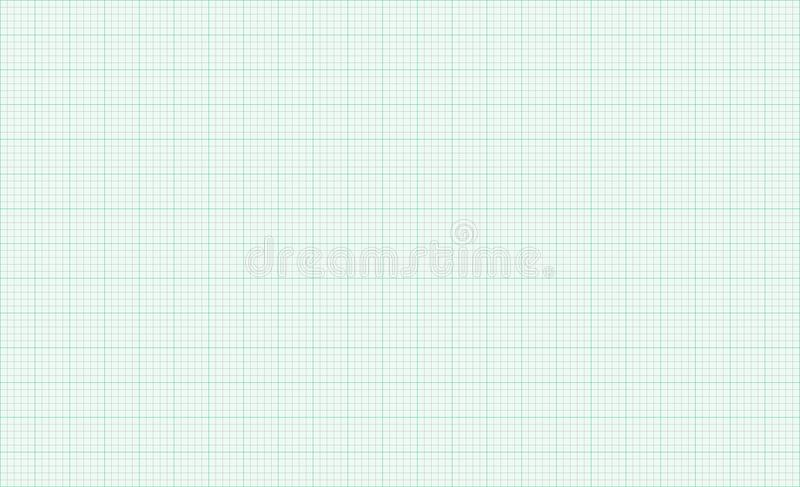 Millimeterpapier groene achtergrondnetlijnen royalty-vrije illustratie