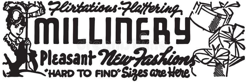 Millinery 3 ilustração stock