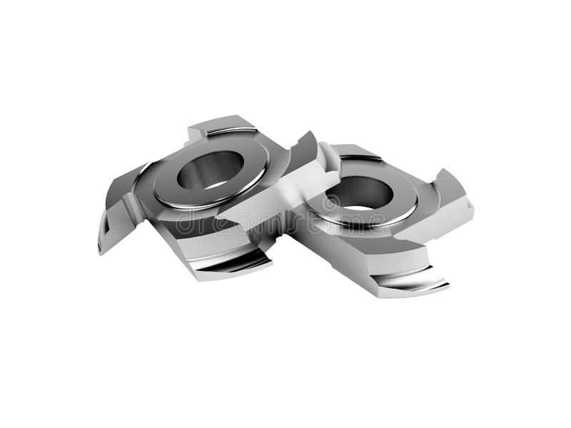 Milling Cutter. 3d milling cutter on white background vector illustration