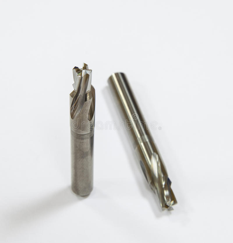 Milling cutters. On neutral background royalty free stock image