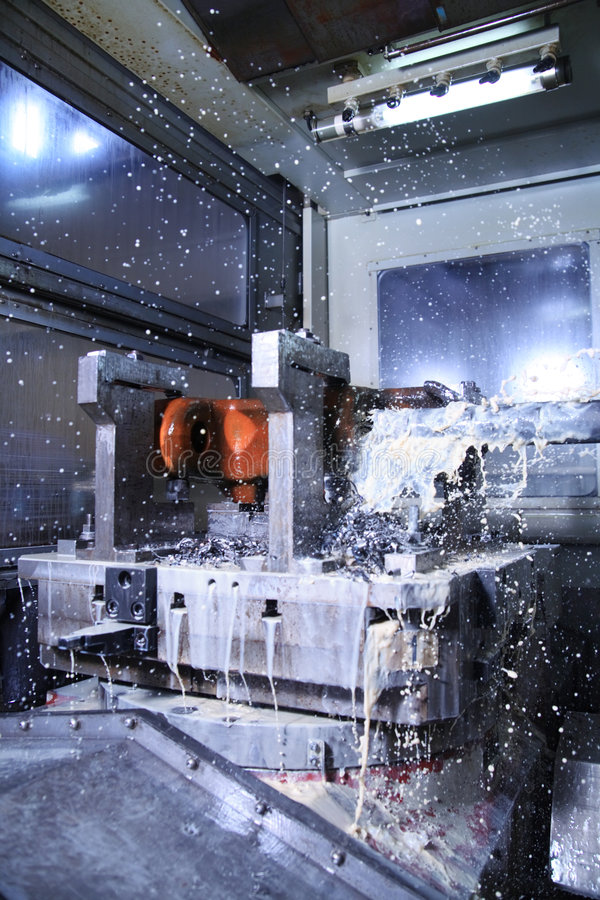 Milling machine. At the factory royalty free stock photos