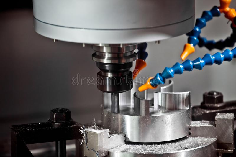 Milling machining center. CNC turning center metal processing machine royalty free stock image