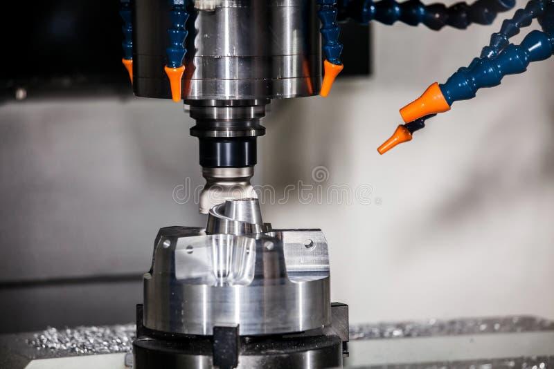 Milling machining center. CNC turning center metal processing machine stock photo