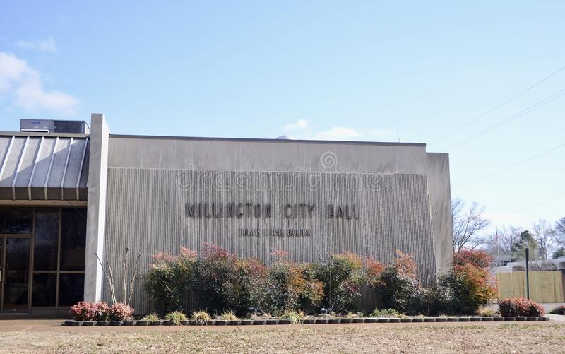 Millington Tennessee City Hall photo stock