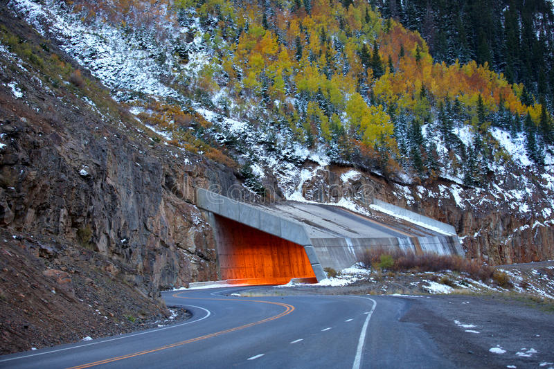 Million dollar highway stock photo