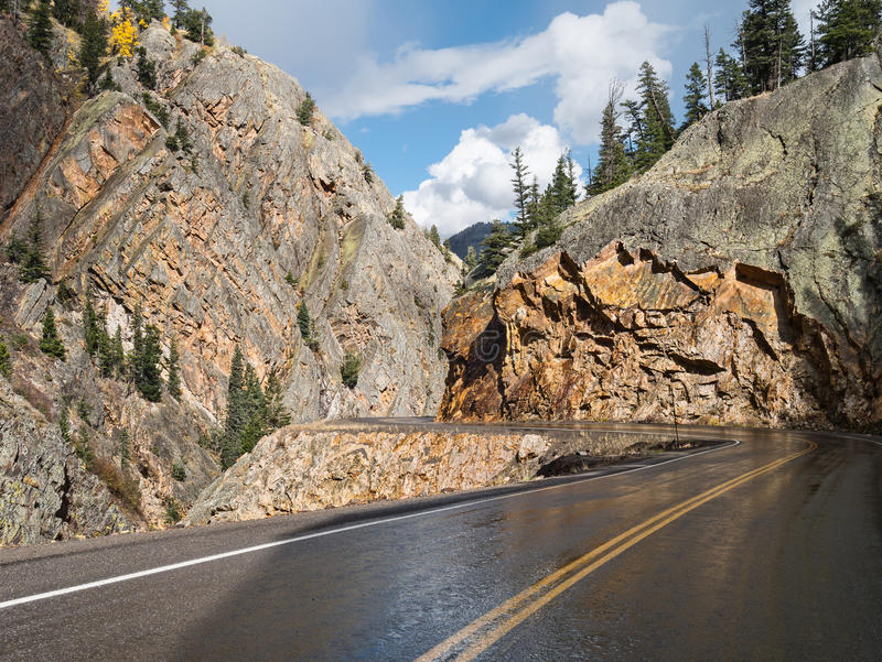 The Million Dollar Highway, western Colorado stock photo