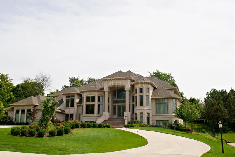 Million Dollar House. In wealthy suburban area stock images