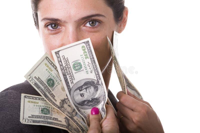 Millionaire businesswoman stock image