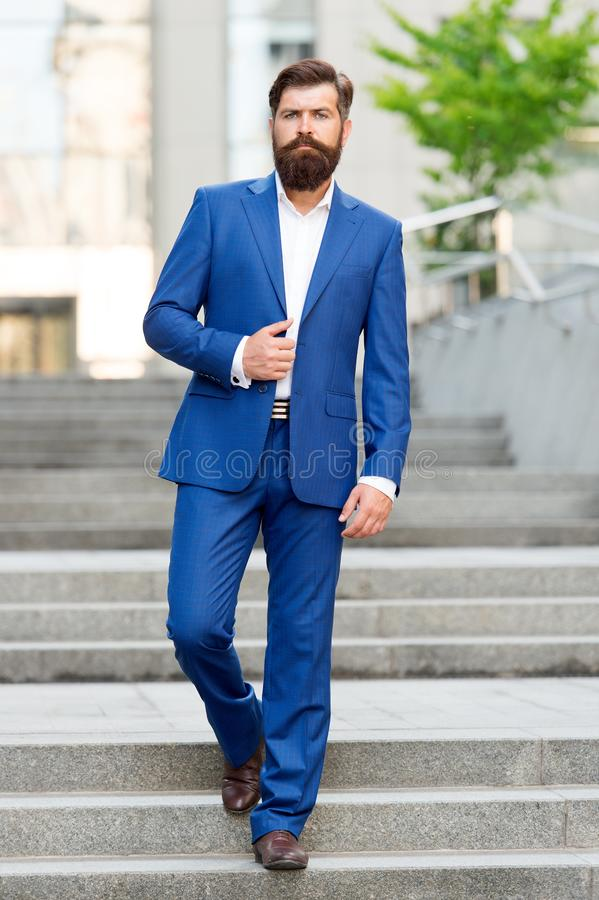 Millionaire. handsome man director in fashion suit. motivated entrepreneur. formal male fashion. Classic style aesthetic. Businessman director. business stock photos