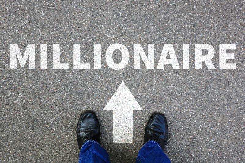 Millionaire rich wealth career businessman success successful bu stock photography