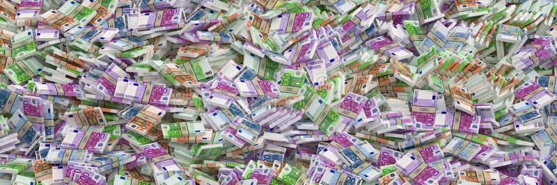 Millions d'euros - euro billets de banque images stock