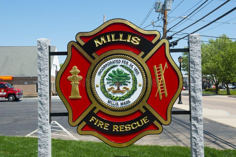 Millis straż pożarna, Massachusetts, usa zdjęcie stock