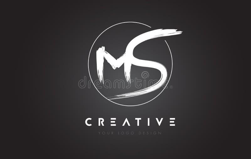Milliseconde Brush Letter Logo Design Logo manuscrit artistique C de lettres illustration stock