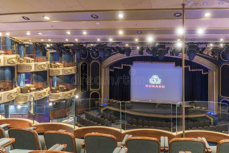 Milliseconde royale Queen Elizabeth de théâtre de cour photographie stock libre de droits